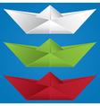Cartoon Paper Boat vector image
