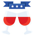 cheers united state independence day related icon vector image vector image