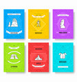 chili thin line brochure cards set country vector image vector image