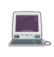 classic computer from 1998 vector image