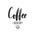 coffee shop emblem 2 vector image vector image