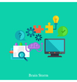 Cognitive and brainstorm flat concept vector image