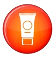 Cosmetic cream tube icon flat style vector image vector image
