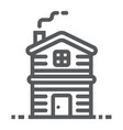 cottage line icon real estate and home apartment vector image