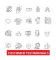 Customer testimonials satisfaction reviews vector image