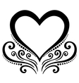deco floral heart vector image vector image