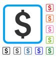 dollar symbol framed icon vector image vector image