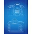 DSLR Camera Outline vector image vector image
