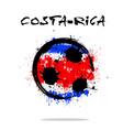 flag of costa rica as an abstract soccer ball vector image vector image