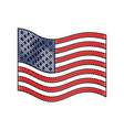 flag united states of america wave flat icon in vector image