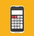 flat calculator on phone icon isolated on color vector image vector image
