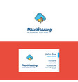 flat cloud music logo and visiting card template vector image vector image