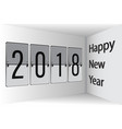 flip board happy new year 2018 3d vector image vector image