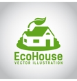 green eco house icon vector image vector image