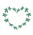 Green Leaves in A Heart Shape Wreath vector image vector image