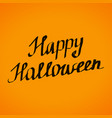 happy halloween lettering banner desig vector image