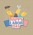 happy labor day american flat vector image vector image