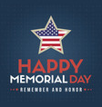 happy memorial day design poster american vector image