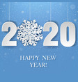 happy new year poster with snow vector image vector image