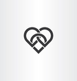 heart knot black icon design vector image