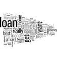 how to find the right loan officer vector image vector image