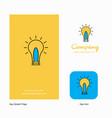 idea company logo app icon and splash page design vector image