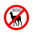 Lama in zoo prohibited
