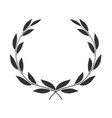 laurel wreath isolated on white background icon vector image vector image