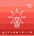 light bulb - new ideas line icon vector image