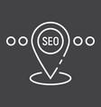 local seo line icon seo and development vector image vector image