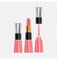 makeup for lips mockup realistic style vector image vector image