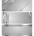 Minimal abstract technology silver headers vector image vector image