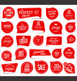modern red sale badges collection vector image vector image