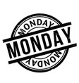 monday rubber stamp vector image
