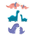 mothers and babies dinosaurs set vector image vector image