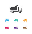of complex symbol on camion vector image vector image