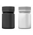 pill bottle plastic supplement package mockup vector image vector image