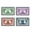 Postage stamps vector image vector image