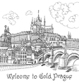 Prague Castle and Charles Bridge vector image