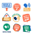 refer a friends banners set referral vector image vector image