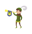 royal herald with trumpet fairytale or medieval vector image vector image