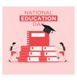 school national education in flat design vector image vector image