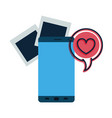screen smartphone with speech bubble avatar vector image