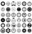 set 36 vintage round labels vector image vector image