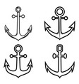 set anchor icons design element for logo label vector image