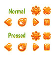 set of colorful icons of setting buttons vector image