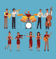 set of musician artists vector image