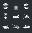 set russia army icons vector image