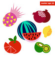 simpletropical fruit set vector image vector image