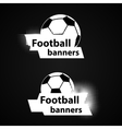 soccer banners set vector image vector image